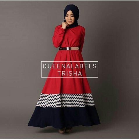 Baju Setelan Long Dress Muslim Hijab Wanita Modern & Murah