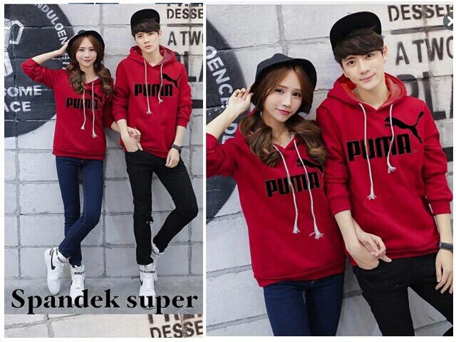 Jaket Sweater Couple PUMA Merah Keren Unik & Murah