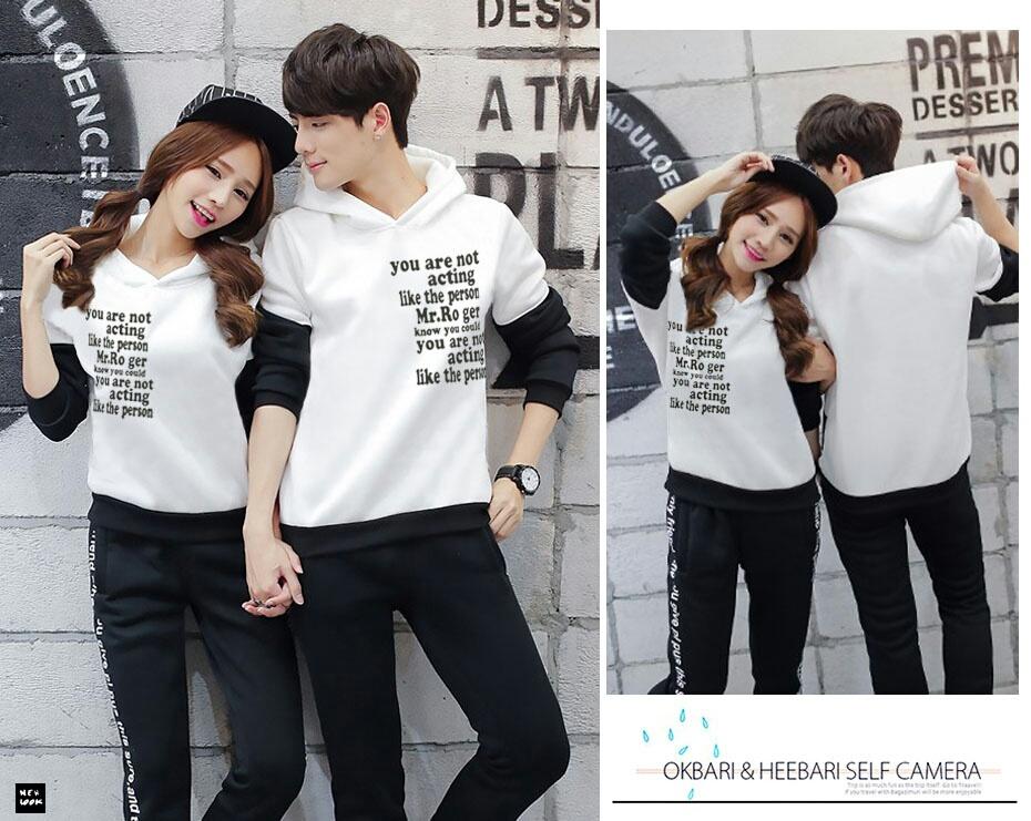 Jaket Sweater Putih Couple Murah Keren Terbaru & Unik
