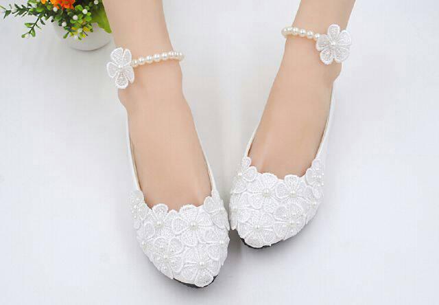 """Sepatu Teplek Putih """"Snow White Flat Shoes"""" Model Terbaru & Murah"""