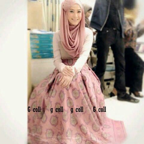 Setelan Pakaian Long Dress Muslim Wanita Model Terbaru Cantik & Murah