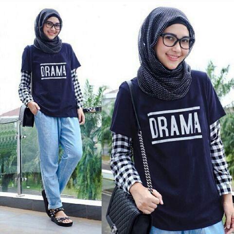 Atasan Wanita Blouse Hijab Drama Unik & Cantik