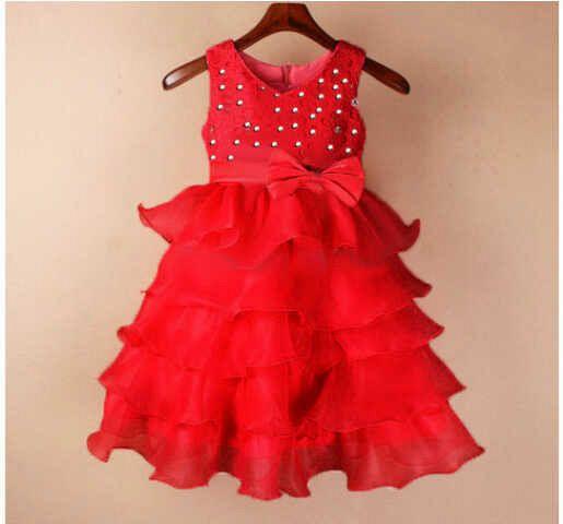 Baju Dress Tutu Merah Anak Perempuan Cantik & Murah