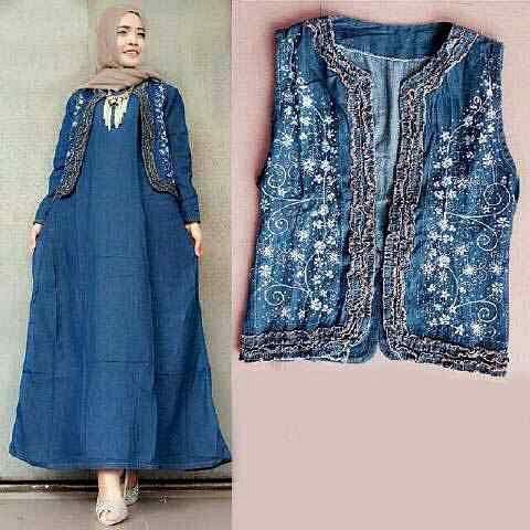 Baju Muslim Wanita Gamis Jeans Model Terbaru