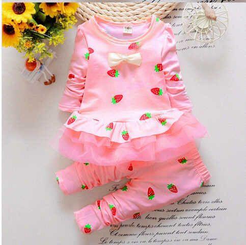 "Setelan Baju Anak Perempuan ""Strawberry Kids"" Cantik & Murah"