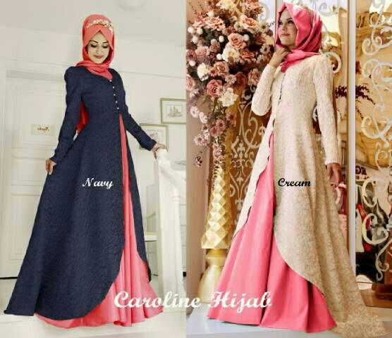 setelan baju hijab muslim 3 in 1 wanita model terbaru