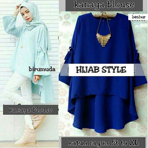 """Baju Atasan Wanita Model Terbaru """"Blouse Hijab Kanaya"""""""