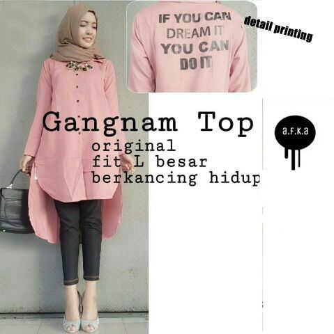 "Model Baju Kemeja Wanita Terbaru ""Gangnam Top Tunik"""
