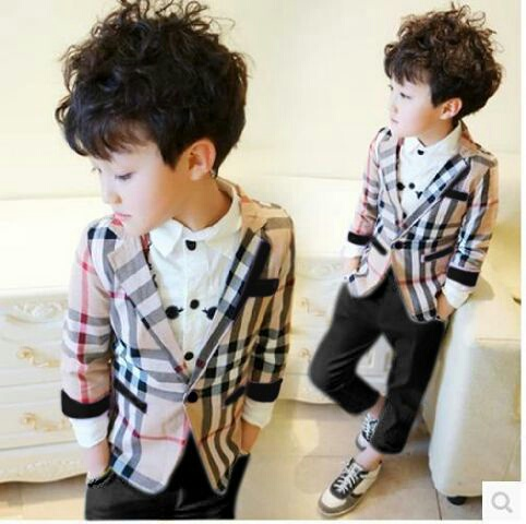 Setelan Blazer Baju & Celana Panjang Anak Laki-laki Keren
