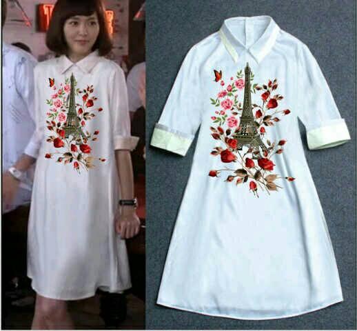 Baju Blouse Cantik Tunik Putih Panjang Terbaru