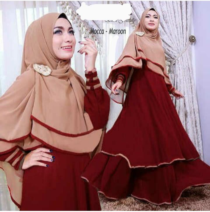 Baju Gamis Syari Model Terbaru Cantik Modern & Murah