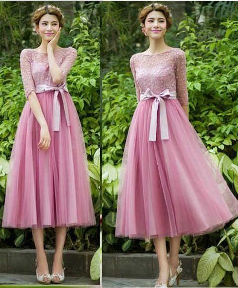 Baju Gaun Long Dress Snow Pink Model Terbaru & Cantik