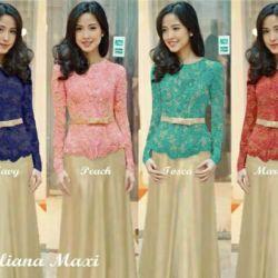 Baju Long Dress Maxi Kebaya Modern Terbaru & Cantik