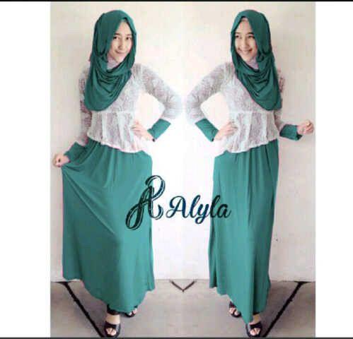 Baju Long Dress Muslim Setelan Hijab Cantik Model Terbaru