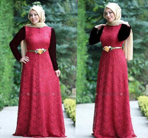Baju Muslim Wanita Set Long Dress Hijab Modern