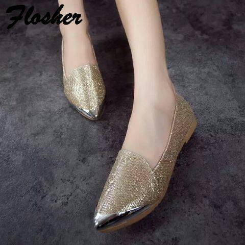 Flat Shoes Model Terbaru Glitter Cantik & Unik