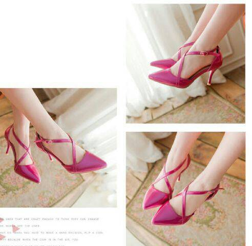 Sepatu High Heels Terbaru Warna Pink Cantik