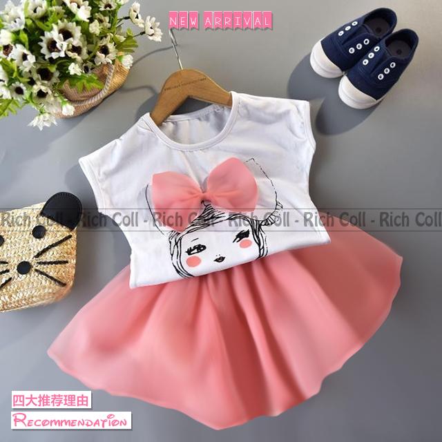 Setelan Baju Anak Perempuan Pink Terbaru & Cantik