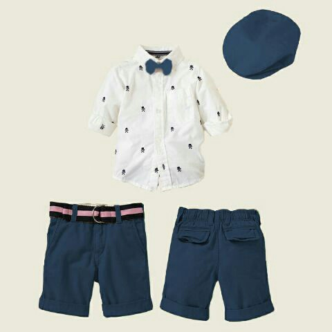 Setelan Baju Kemeja Pendek Anak Laki-laki Keren