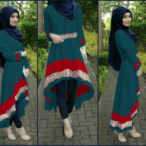 Setelan Hijab 3 in 1 Baju Celana & Pashmina Murah