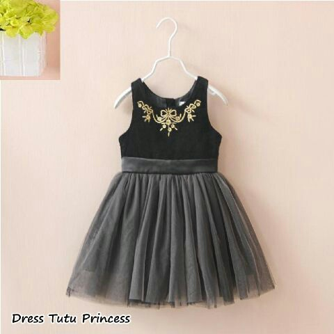 Baju Dress Anak Perempuan Bahan Tile Cantik Model Terbaru