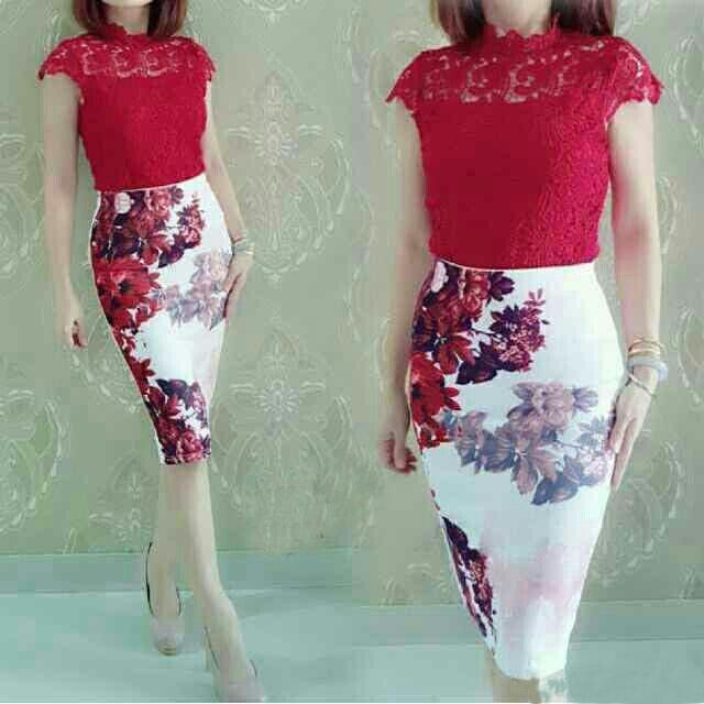 Baju Dress Brukat Cantik Model Terbaru Modis & Murah