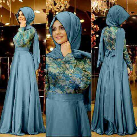 Baju Gamis Modern Desain Cantik Trend Model Terbaru