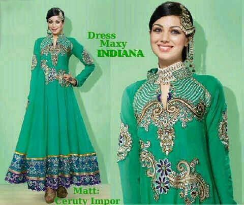 Baju India Long Dress Maxy Indiana Cantik Model Terbaru