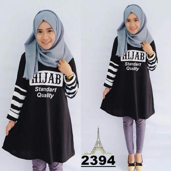 Baju Kaos Wanita Hijab Modern Terbaru Cantik & Murah