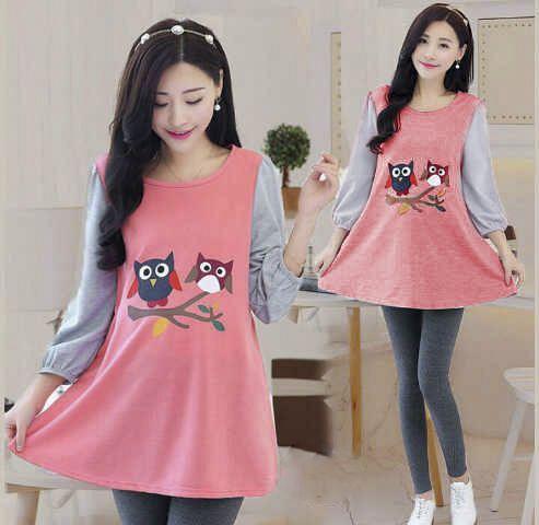 Baju Kaos Wanita Lucu Lengan Panjang Cantik Model Terbaru