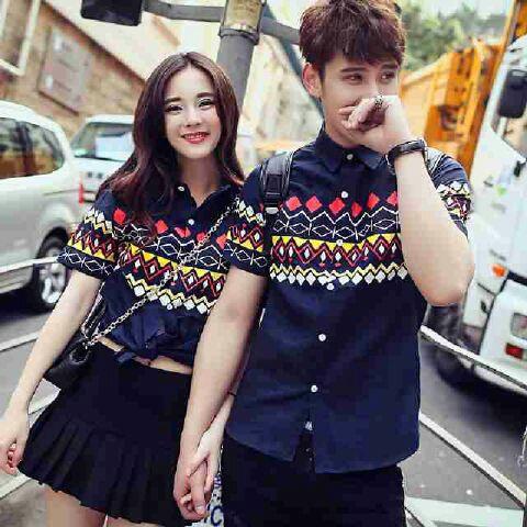 Baju Kemeja Couple Model Terbaru Motif Keren & Modern