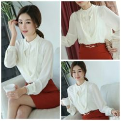 Baju Kemeja Putih Wanita Lengan Panjang Model Terbaru