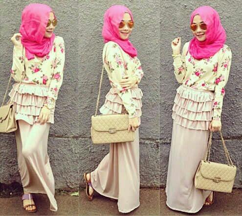 Baju Muslim Wanita Dewasa Setelan Hijab 3 in 1 Modern
