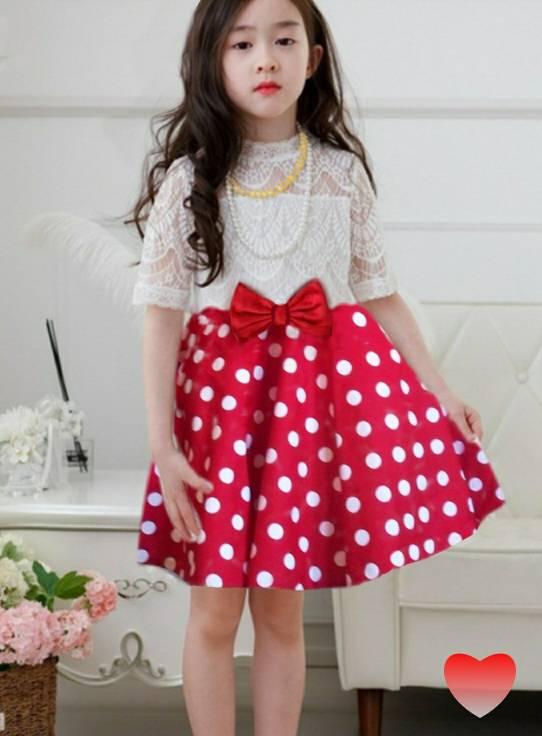 Dress Anak Perempuan Motif Polkadot Cantik Model Terbaru