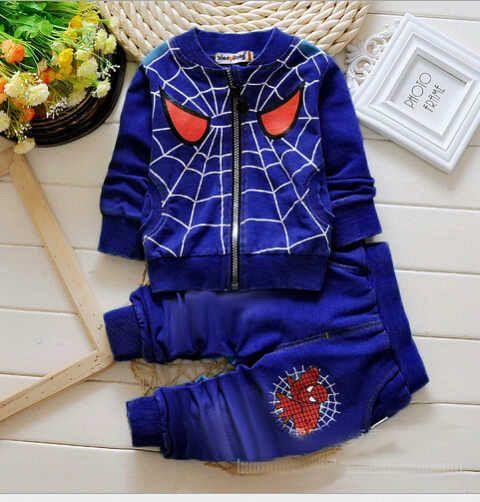 Jaket Setelan Anak Laki-laki Keren Gambar Spiderman