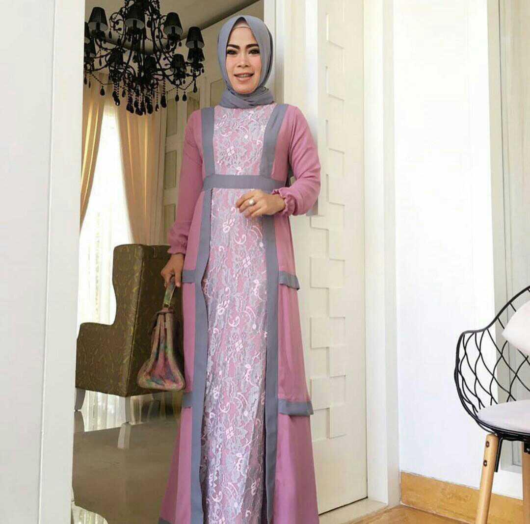 Model Gamis Terbaru Setelan Hijab Modern & Cantik