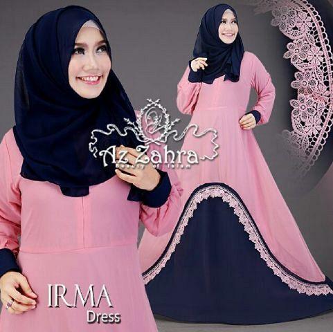 Model Gamis Terbaru Warna Pink Cantik Modis & Murah