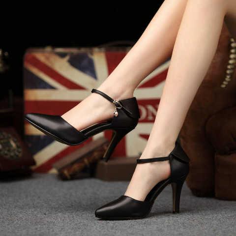 Sepatu High Heels Cantik Warna Hitam Murah & Modern