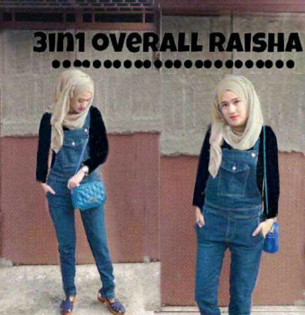 Setelan Jumpsuit Hijab Model Terbaru 3 in 1 Modern
