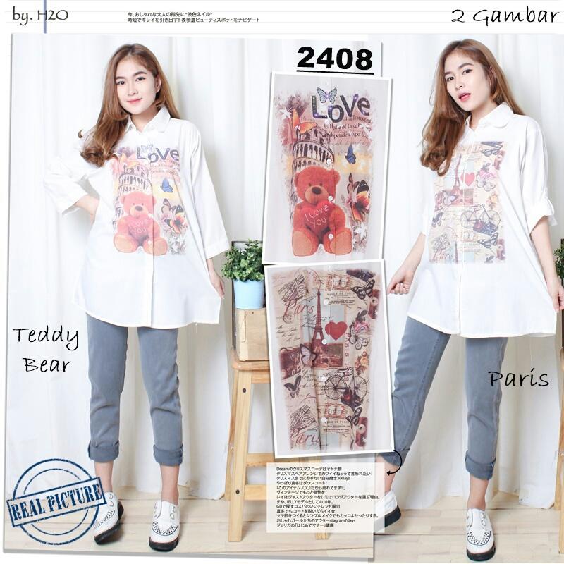 Baju Atasan Wanita Terbaru Ukuran XXL Warna Putih Cantik