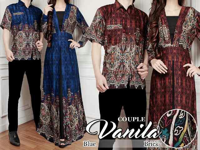 Baju Couple Batik Muslim Model Terbaru Cantik & Modern