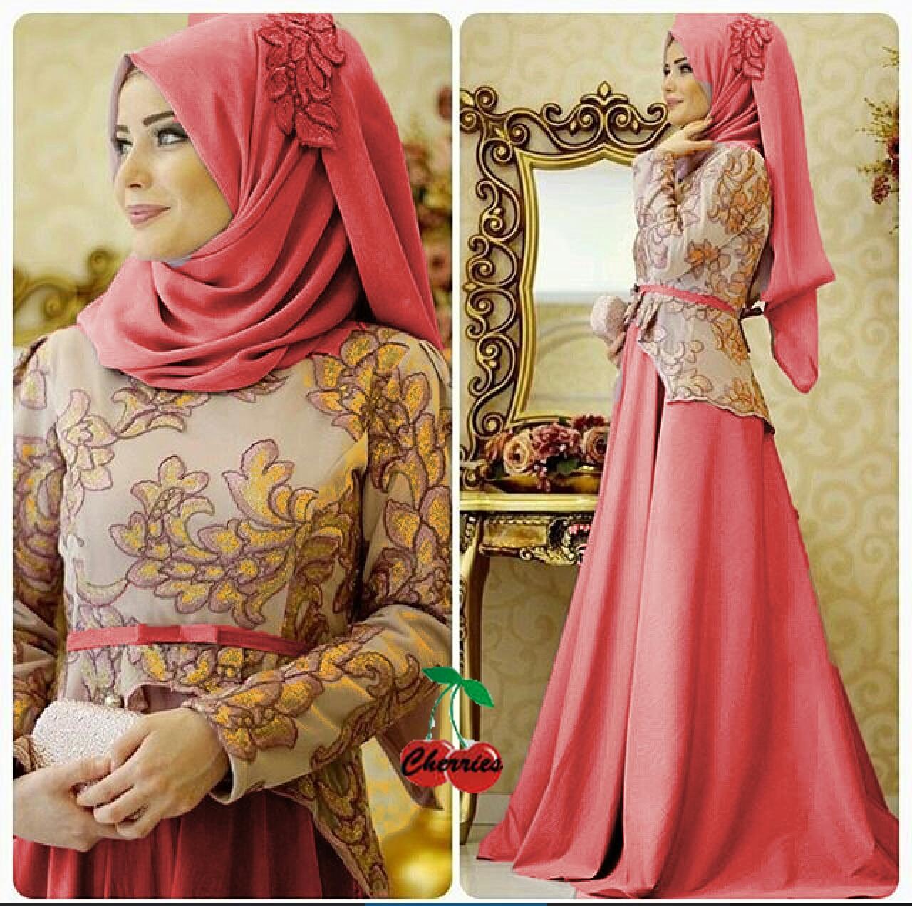 Baju Gamis Model Terbaru Setelan Hijab Muslim Wanita Modern