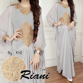Baju Long Dress Kaftan Muslim Lengan Panjang Cantik