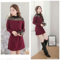 Baju Mini Dress Lengan Panjang Murah Cantik Model Terbaru
