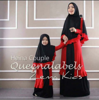 Baju Muslim Gamis Couple Ibu & Anak (Mom & Kids) Terbaru