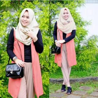 Baju Setelan Hijab Celana 4 in 1 Model Terbaru Cantik & Murah