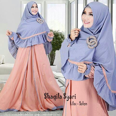 Model Baju Muslim Wanita Gamis Syari Terbaru dan Modern