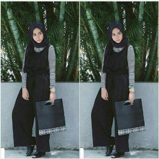 Model Setelan Jumpsuit Hijab Terbaru Modis Cantik & Murah