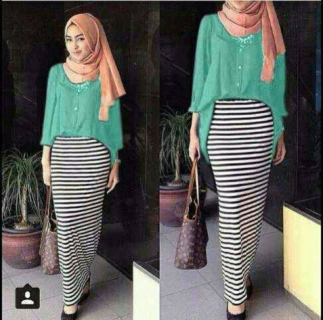"""Pakaian Muslim Wanita """"Setelan Hijab Skine Skirt"""" Cantik & Murah"""