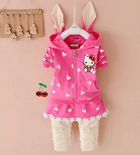 Setelan Baju Anak Perempuan Jaket Hoodie Hello Kitty Lucu